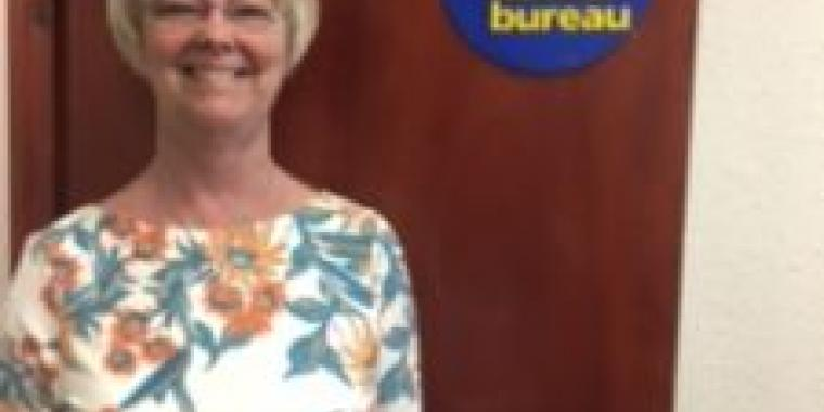 Ellen Phillips: Director, Motherwell and Wishaw Citizens Advice Bureau with her new award.
